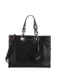 Diane von Furstenberg Sutra Calf-Hair Shopper Tote Bag, Black