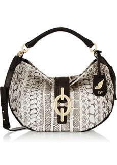Diane von Furstenberg Sutra Hobo medium leather and watersnake shoulder bag
