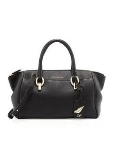 Diane von Furstenberg Sutra Leather Duffle, Black