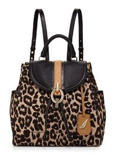 Diane von Furstenberg Sutra Leopard-Print Jacquard Backpack