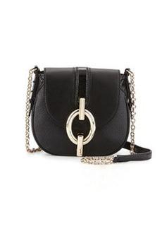Diane von Furstenberg Sutra Mini Leather Crossbody Bag, Black