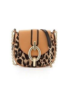 Diane von Furstenberg Sutra Mini Leopard-Print Crossbody Bag, Sandalwood