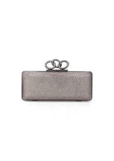 Diane von Furstenberg Sutra Mini Metallic Clutch Bag, Pewter