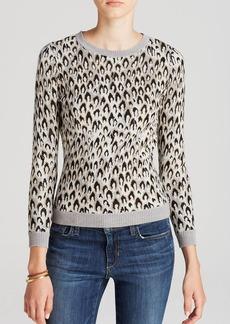DIANE von FURSTENBERG Sweater - Leopard Jacquard