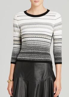 DIANE von FURSTENBERG Sweater - Striped Metallic
