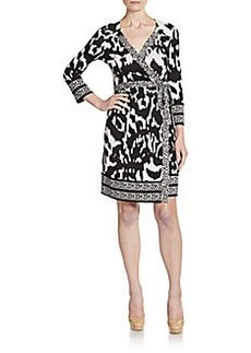Diane von Furstenberg Tallulah Silk Abstract Wrap Dress