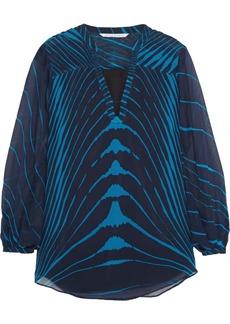 Diane von Furstenberg Tanyana printed silk-chiffon top