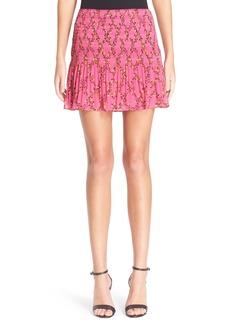 Diane von Furstenberg 'Tayte' Floral Print Miniskirt
