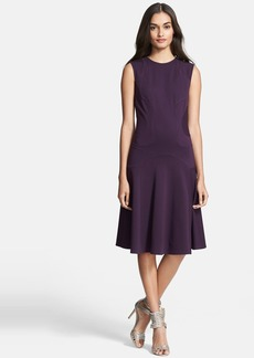 Diane von Furstenberg Textured Panel A-Line Dress