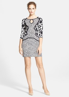 Diane von Furstenberg Three Quarter Sleeve Shift Dress