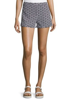 Diane von Furstenberg Tiffany Clean Printed Silk Shorts