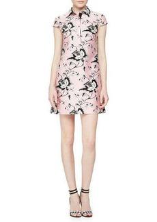 Diane von Furstenberg Toile-Pattern Sateen Dress