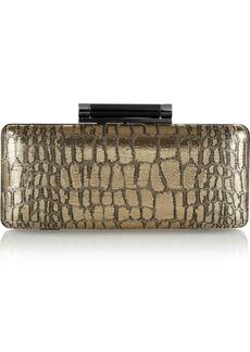 Diane von Furstenberg Tonda croc-jaquard box clutch