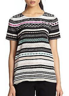 Diane von Furstenberg Tori Silk Striped Top