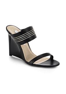 Diane von Furstenberg Valencia Leather Wedge Sandals