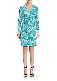 Diane von Furstenberg Valencia Long Sleeve Animal-Print Wrap Dress