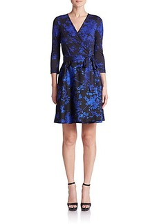 Diane von Furstenberg Valerie Printed Wool & Silk Wrap Dress
