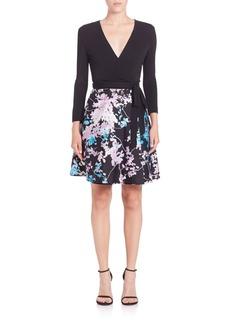 Diane von Furstenberg Valerie Printed Wool & Silk Wrap Dress