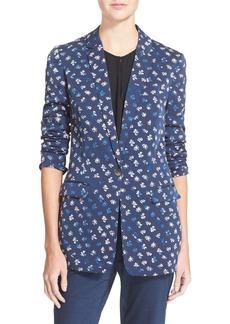 Diane von Furstenberg 'Vinley' Floral Print Silk Blazer