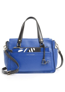 Diane von Furstenberg 'Voyage' Colorblock Leather Satchel
