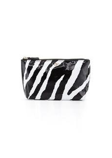 Diane von Furstenberg Voyage Zebra Cosmetics Bag, Black/White