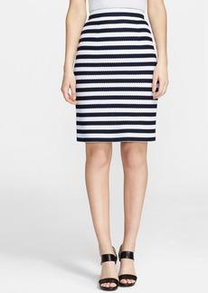 Diane von Furstenberg 'Walda' Stripe Knit Cotton Skirt