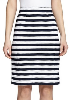 Diane von Furstenberg Walda Striped Cotton Pencil Skirt