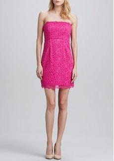 Diane von Furstenberg Walker Strapless  Lace Dress