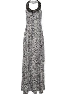 Diane von Furstenberg Willema snake-print silk-chiffon maxi dress