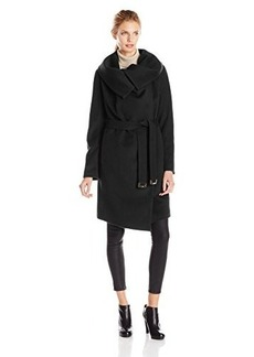Diane von Furstenberg Women's Beaux Wool-Blend Wrap Coat