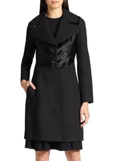 Diane von Furstenberg Wool & Calf Hair Coat