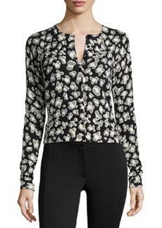 Diane von Furstenberg Wool-Blend Spotted Sweater, Black