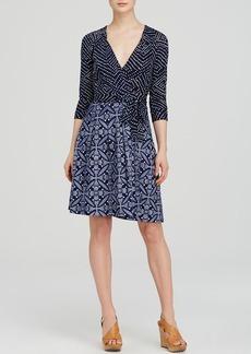 DIANE von FURSTENBERG Wrap Dress - Jewel Mixed Print