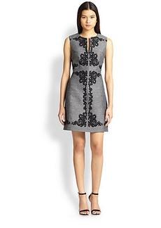 Diane von Furstenberg Yvette Baroque-Print Melange Dress