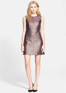 Diane von Furstenberg 'Yvette' Metallic A-Line Dress