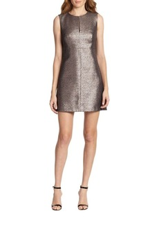 Diane von Furstenberg Yvette Metallic-Front Dress