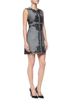 Diane von Furstenberg Yvette Sleeveless Appliqué Panel Dress