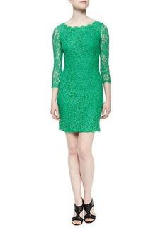 Diane von Furstenberg Zarita Boat-Neck Lace Dress