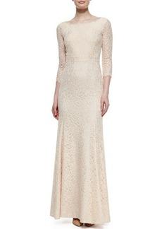 Diane von Furstenberg Zarita Lace 3/4-Sleeve Gown
