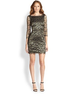 Diane von Furstenberg Zarita Metallic Lace Dress