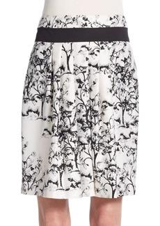 Diane von Furstenberg Zelie Print-Detail Pleated Skirt