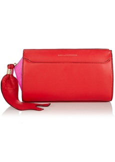 Diane von Furstenberg Zip-And-Go elaphe-trimmed leather clutch