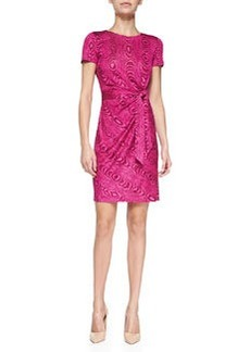 Diane von Furstenberg Zoe Grain Shadow Mock-Wrap Dress