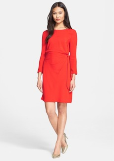 Diane von Furstenberg 'Zoe' Long Sleeve Silk Side Tie Dress