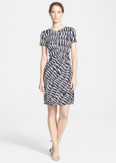 Diane von Furstenberg 'Zoe' Print Side Tie Silk Dress