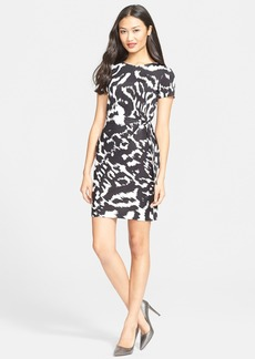 Diane von Furstenberg 'Zoe' Print Side Tie Silk Sheath Dress