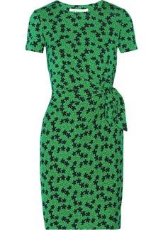 Diane von Furstenberg Zoe printed stretch-jersey wrap dress