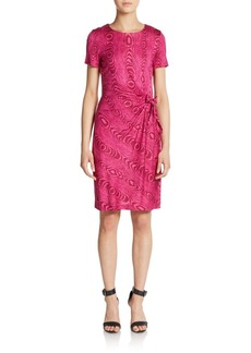 Diane von Furstenberg Zoe Silk Tree Ring-Print Sheath Dress