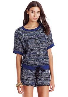 DVF Adela Woven Tweed Pullover