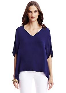 DVF Adria Silk Tunic Top